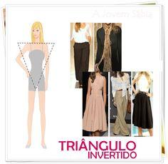 blusas para quem tem corpo triangulo invertido - Pesquisa Google