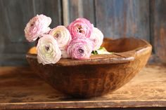 What a beautiful handcarved dough bowl...