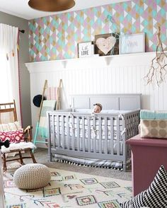 Loving the touch of tiffany blue colour paired in contrast with deep pink colour  complemented by vibrant moroccan pattern on the rug !   Photo by @remingtonavenue  Explore and dress you little ones room with our nursery decor pieces and rugs range x  view on Instagram http://ift.tt/2s3kMnx