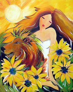 Leo- Astrological Goddess by Ronnie Biccard