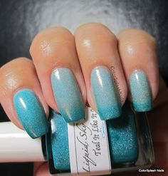 Colorsplash Nails: Liquid Sky Lacquer Teal It Like It Is