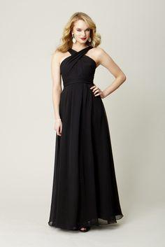 Kennedy Blue Bridesmaid Dress Stella   Kennedy Blue - www.KennedyBlue.com #long #fulllength #black