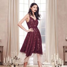 LC Lauren Conrad Runway Collection Lace Midi Dress - Be the hottest girl at your holiday parties this year!