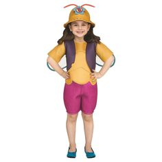 Beat Bugs Buzz Toddler Costume 3T-4T, Toddler Girl's, Multicolored