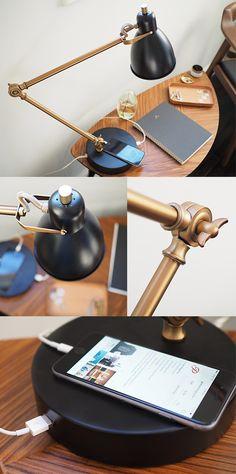 West Elm USB Table Lamp