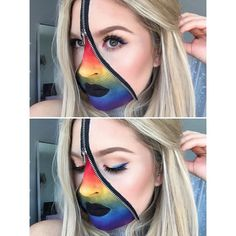 This rainbow look is up on my channel NOW! http://youtu.be/hs2BM5XfaK8 #shaaanxo #halloween #rainbow #pride #sfx #zip