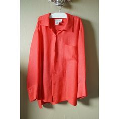 Coral button up Good condition. Coldwater Creek Tops Button Down Shirts