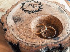 Купить Подушечка для колец деревянная - рустикальный, рустик, свадьба в стиле…