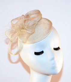 Ivory Fascinator Hat Ivory Kentucky Derby Hat by MadameMerrywidow