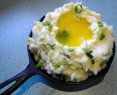 Mashed Potatoes With Green Onions. Photo by JustJanS