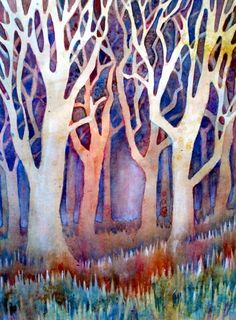"""""""Winter forest"""" Watercolour"""