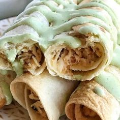 A creamy, perfectly seasoned chicken mixture rolled up in a crispy flour tortilla and baked. No deep frying these taquitos! Baked honey lime chicken taquitos are a family favorite dinner. Dip in an easy sour cream salsa verde sauce and dinner is served. Chicken Taquitos, Chicken Tacos, Chicken Salad, Canned Chicken, Chicken Seasoning, Rotisserie Chicken, Butter Chicken, Honey Lime Chicken, Pineapple Chicken