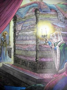 """nicole-halsey: """" More art from my old fairy tale book: The Princess and the Pea by Robyn Officer """""""