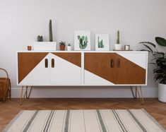 SOLD SOLD G Plan Mid Century Vintage Teak Sideboard. Upcycled & Painted with White Geometric Triangles and Copper HairPin Legs Upcycled Furniture century Copper Geometric HairPin Legs mid Painted Plan Sideboard SOLD Teak Triangles Upcycled Vintage White Green Painted Furniture, Mcm Furniture, Refurbished Furniture, Paint Furniture, Furniture Projects, Furniture Makeover, Furniture Stores, Up Cycled Furniture, Furniture Repair