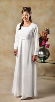 Minuet - White Elegance - Makers of LDS Temple Clothes, Temple Dresses, Pioneer Costumes and more