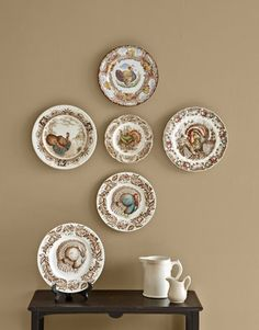 Decorating with Vintage Plates — DIY Plate Wall Ideas — Hang Plates On Wall, Plate Wall Decor, Hanging Plates, Antique Plates, Vintage Plates, Decorative Plates, Vintage Kitchen, Plate Collage, Turkey Plates