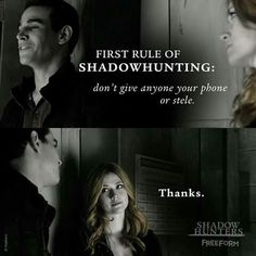 "Simon and Clary - Shadowhunters 2x01 ""The Guilty Blood"" this is quite possibly one of my favourite parts in this episode!!"