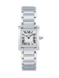 Cartier - Tank Francaise Stainless Steel Medium Bracelet Watch | 4900. my beloved.
