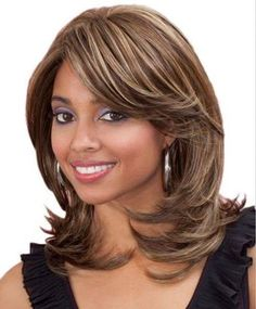 Bobbi Boss Premium Synthetic Hair Lace Front Wig - SAGE Bobbi Boss Lace Front Wig has been created for.Best Mid Length Hairstyles for African American WomenMost Wanted Mid Length Hairstyles for Women That Make You Pretty and Fascinating for Parties a Long Bob Hairstyles, African Hairstyles, Middle Hairstyles, Pretty Hairstyles, Synthetic Lace Front Wigs, Synthetic Hair, Medium Hair Styles, Short Hair Styles, Mid Length Hair