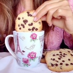 warm milk and cookies my absolute favourite thing to eat💕