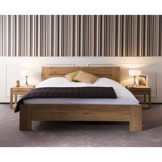 Ethnicraft Azur oak bed | solid wood furniture