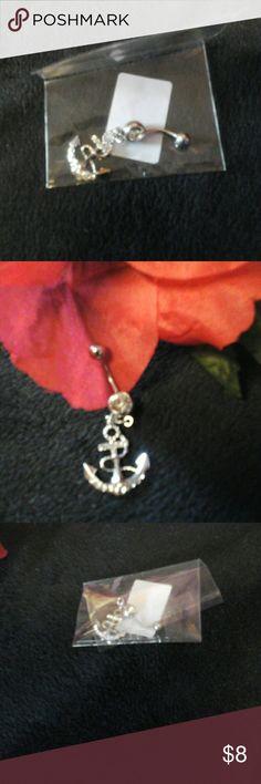 Nautica rhinestone studded navel earring fun jewel Rhinestone  studded navel ring, fun jewelry, silver color , $8 Jewelry Earrings