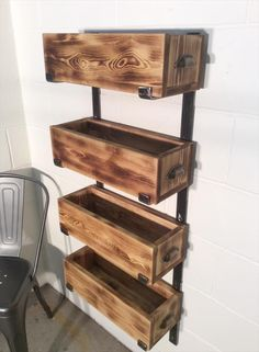 Pallet Wood and Steel Storage Shelves | 99 Pallets