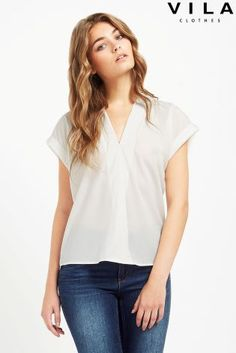 Buy Vila Short Sleeve Wrap Top online today at Next: Rep. of Ireland