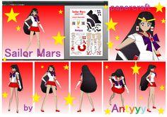 Sailor Mars papercraft by Antyyy.deviantart.com on @DeviantArt