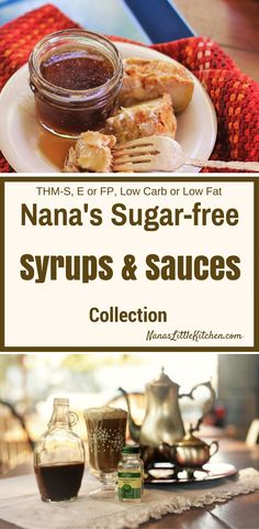 A collection of delicious sugar free sauces and syrups. Trim Healthy Recipes, Trim Healthy Momma, Low Carb Dinner Recipes, Sugar Free Recipes, Low Carb Recipes, Real Food Recipes, Sugar Free Sweets, Low Carb Sweets, Low Carb Desserts
