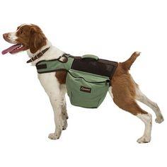 Aussie Naturals Canvas Dog Backpack - Medium in Green/Brown...Sampson needs this!