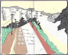 Nice use of collage in sketchbook.  dormio: dead (by katie.drew)