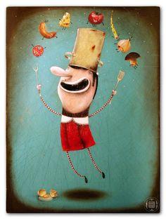 en la cocina  http://pantonedesign.blogspot.com/