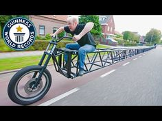 The world's longest bike stretches an astonishing 117-feet - built by a cycling organization in the Netherlands (of course)
