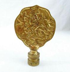 Antique Brass Bronze Bird Nest Finial 3 Tall Vintage Gold Look Shade Topper Birds in Tree