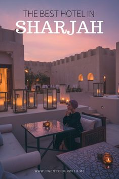 I was super excited for our stay in Al Bait. This luxury boutique hotel sits alongside the canal in the heritage district of Sharjah. Lavender Drink, Door Steps, Guest Services, Sharjah, Traditional Design, Best Hotels, Old Houses, Beautiful Homes, How To Memorize Things