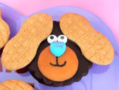 Made with Moon Pies, Nilla Wafers, Nutter Butter Ears, edible eyes and conversation heart.