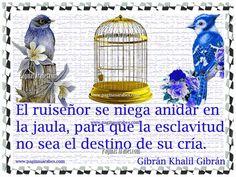El ruiseñor y la jaula - Gibrán Khalil Gibrán