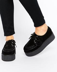 Image 1 - Truffle Collection - Creepers à lacets et semelle plateforme
