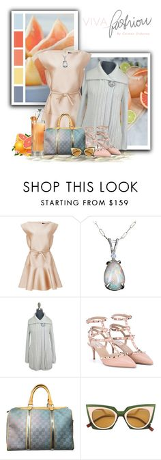 """"""":)First of June"""" by maison-de-forgeron ❤ liked on Polyvore featuring Hermès, Paule Ka, Rebecca Taylor, Valentino, Gucci and Fendi"""