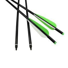 "12X 18/"" Archery Fiberglass Arrows Flat Nock for Crossbow Bolts Hunting Shooting"