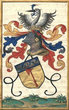 Armes des Pichelin (f°61). -- «Extraict de la généalogie de la famille des Pichelins, faiz vertueulx et chevaleureux d'iceulx», par Jean-Baptiste de Pichelin, sgr de Villemanoche, 1501-1600 [BNF Ms Fr Français 6018].