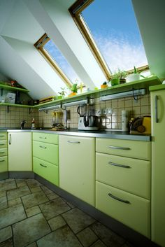 """21 Refreshing Green Kitchen Design Ideas WE are exploring different ways to design our kitchen & bathrooms lately . TODAY we will display the color """"GREEN """" for your kitchen .THIS colopr is very pleasent & as kitchen is a place where we spend hours cooking it must be designed to theRead more"""