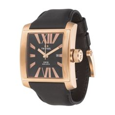 TW Steel Watches Goliath CEO Watch In Rose Gold & Black