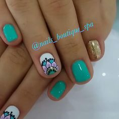 Pin by Francheska Ortiz on Uñas in 2019 Hot Nails, Hair And Nails, Fancy Nails, Pretty Nails, Spring Nails, Summer Nails, Beauty Nails, Beauty Makeup, Fox Makeup