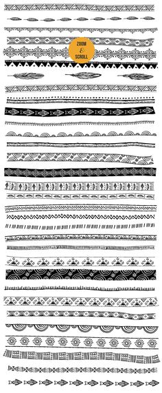 50 Boho - Tribal - Gypsy Ai Brushes by Marish on @creativemarket