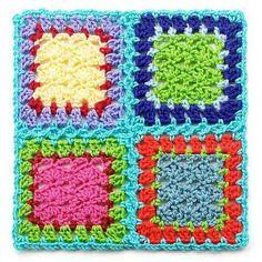 Union granny squares con forma de trenza (resultado)