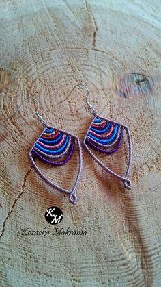 Macrame Earrings, Macrame Jewelry, Macrame Design, Mac Mini, Micro Macrame, Berry, Cuff Bracelets, Diy And Crafts, Freedom