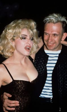 Madonna Rocks Another Marilyn Monroe-Inspired Look With Jean Paul Gaultier In Paris, 1990