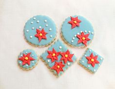 Poinsettia Sugar Cookies